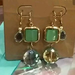 Iridescent Dangle Earrings 14K on Sterling NWT!